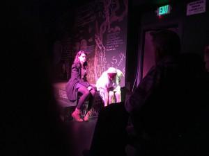 Juniper (Noelle Viñas) and the Virgin Mary (Michelle Navarrete)