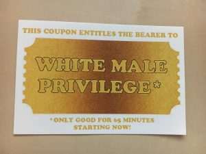 White male privilege coupon